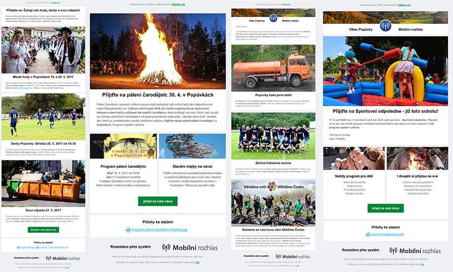 Ukázky mailingů do blogu